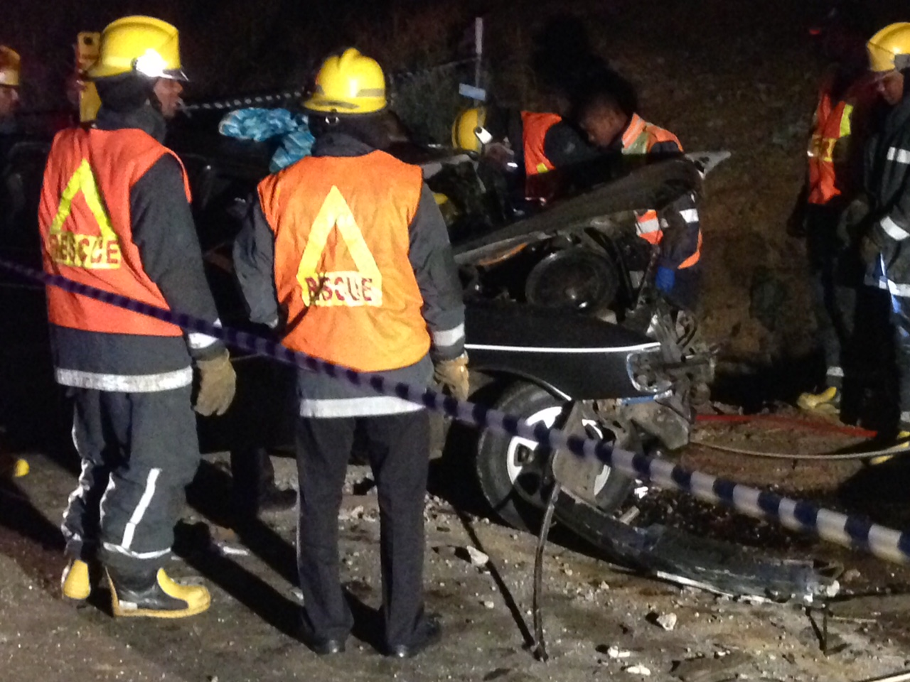 Jaws of life needed to cut men free from wreckage