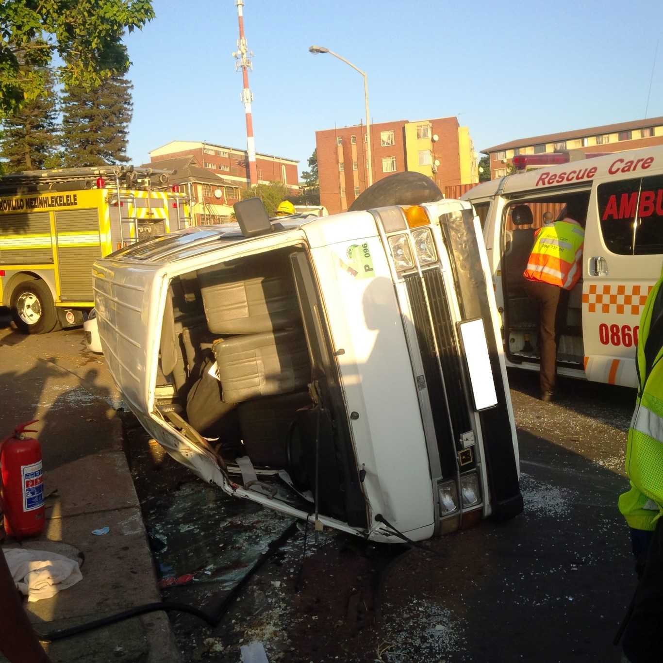 Early morning taxi crash leaves 15 injured in Durban