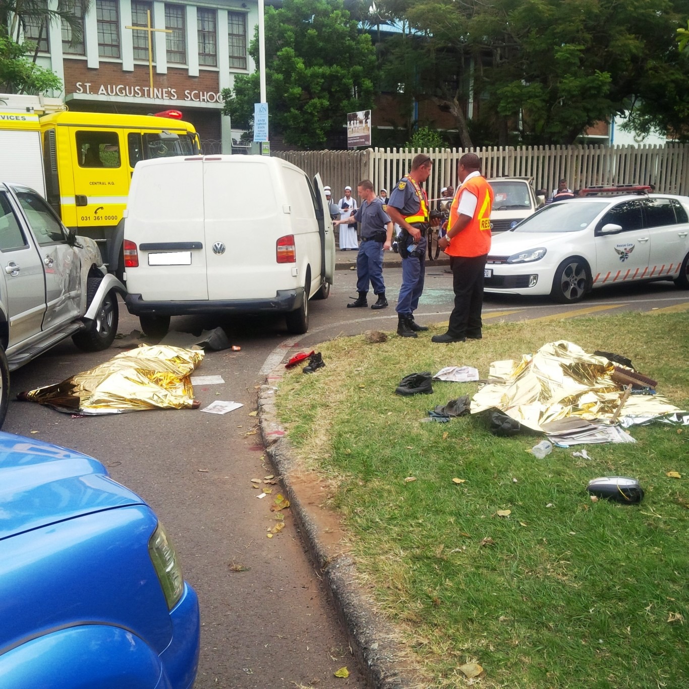 Collision into road workers in Greyville kills two and injured one