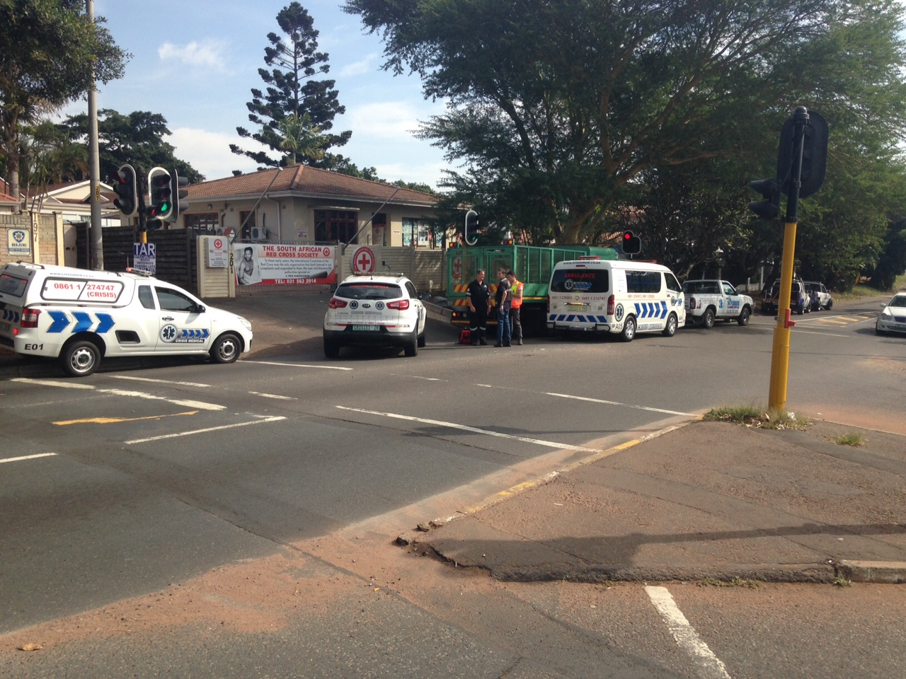 Two injured in collision at intersection on Umhlanga Rocks Drive