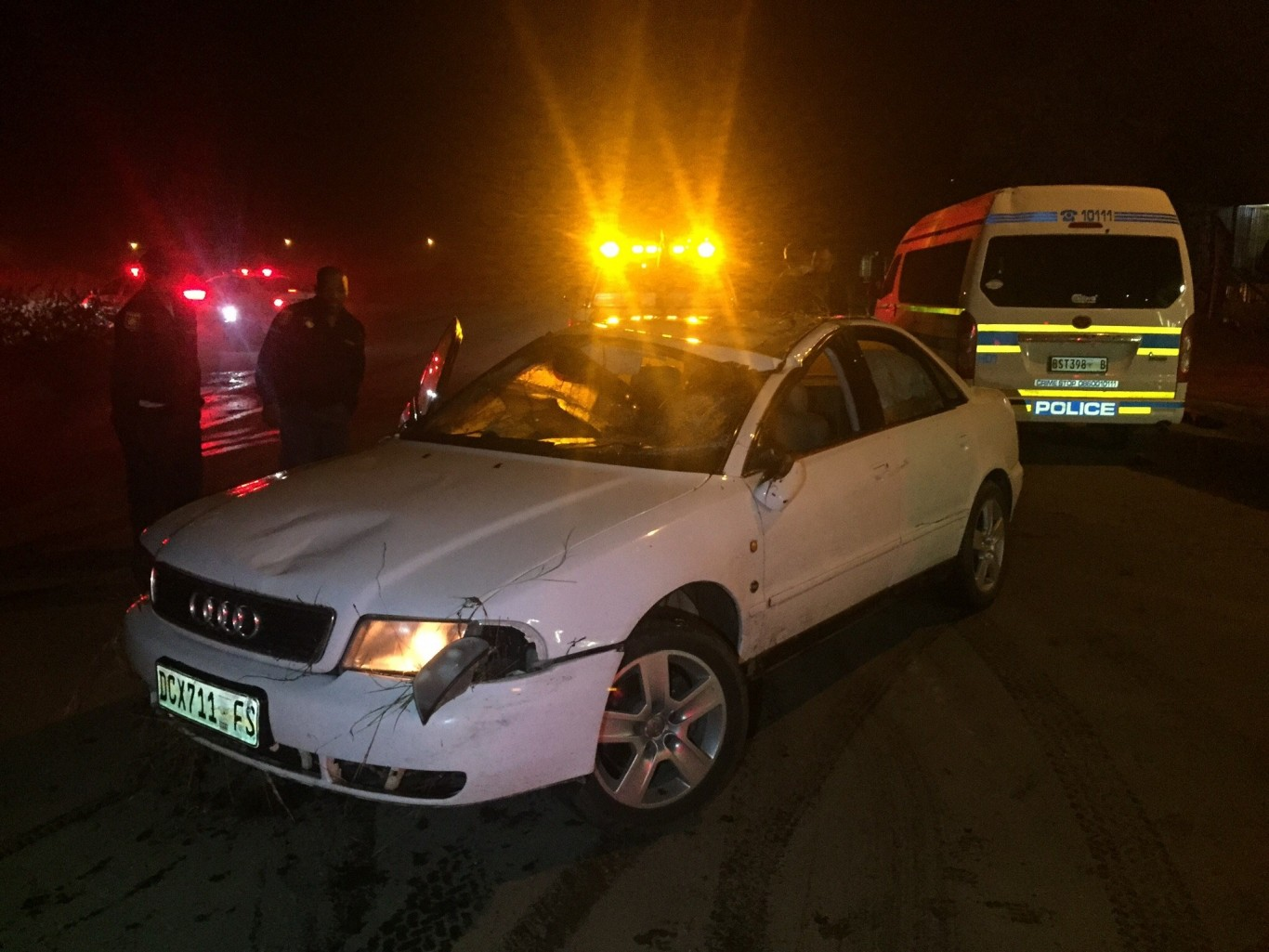 Bloemfontein driver saved from drowning after crashing into storm water trench