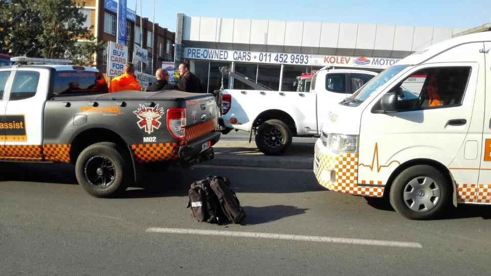 Motor bike crash in Midrand injures one
