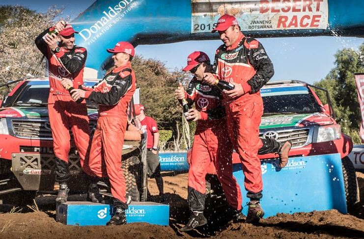 Three in a row for Castrol Team Toyota in Desert Race
