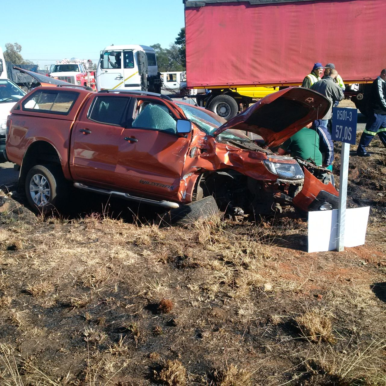 Five injured in truck collision at intersection outside Carletonville