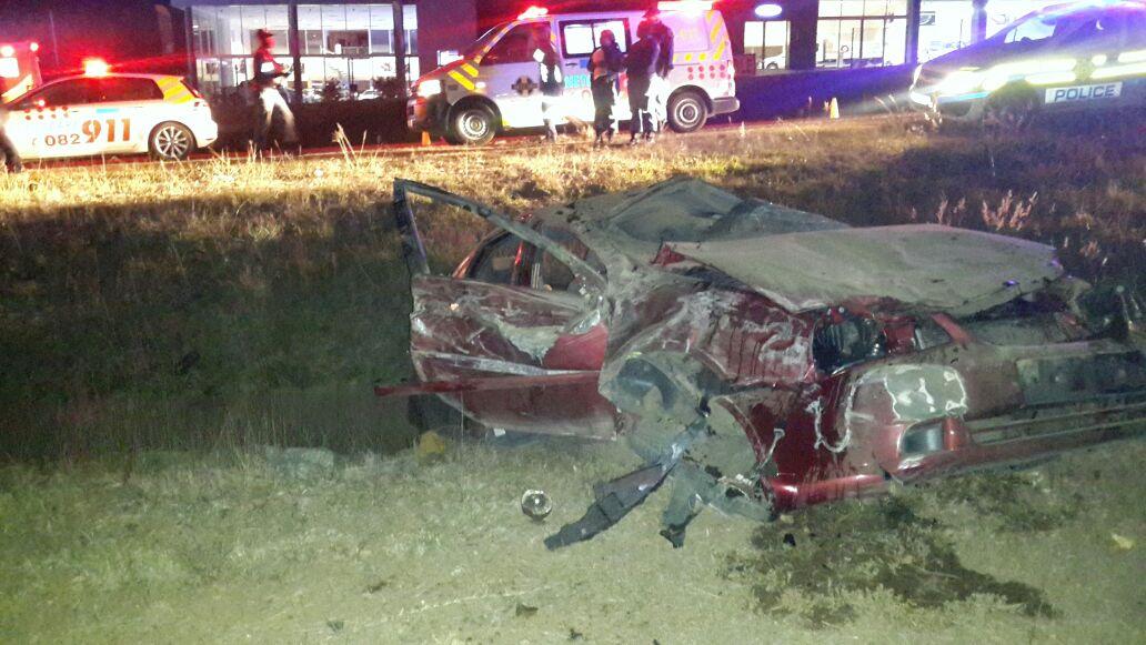 Pretoria Equestria road crash leaves one injured