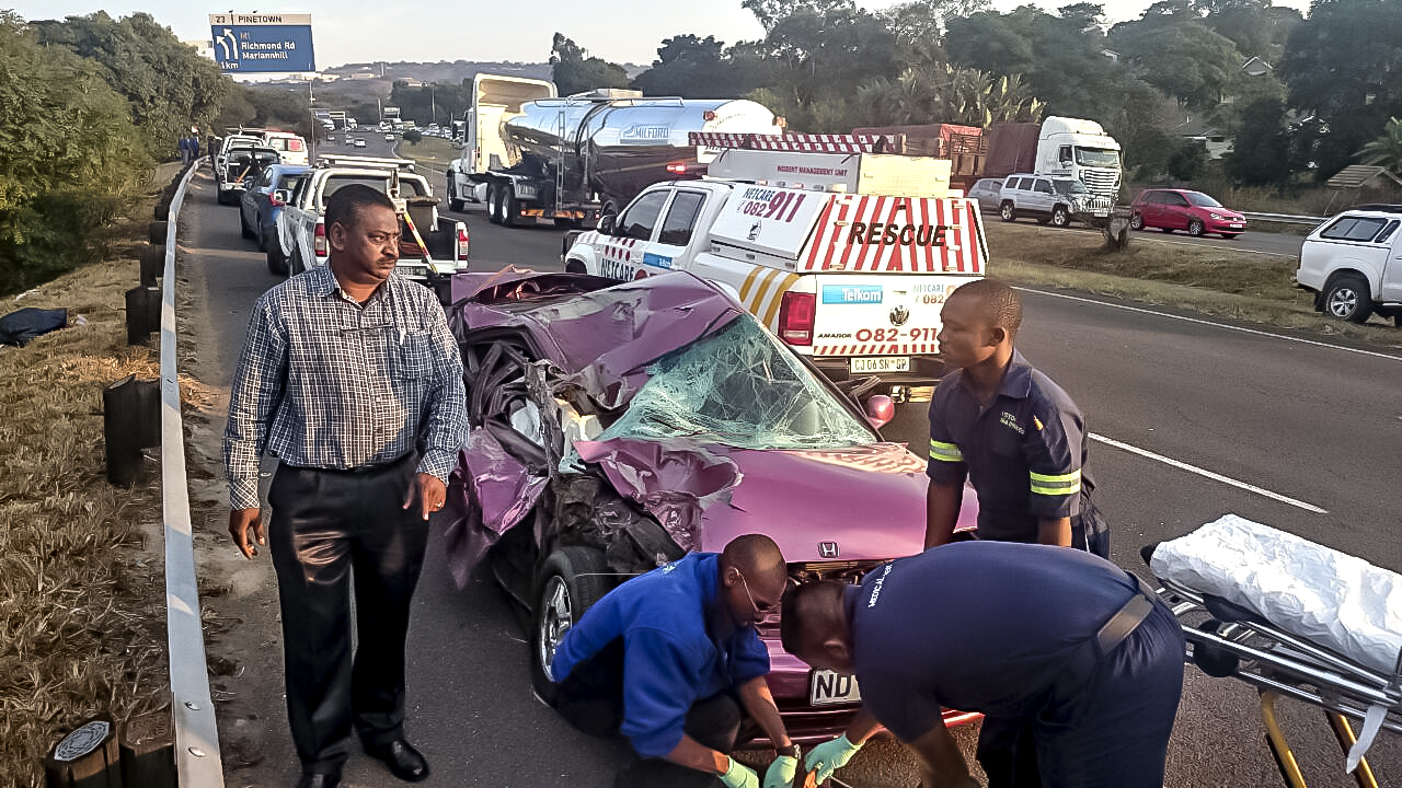 M7 Rear-end crash leaves one injured