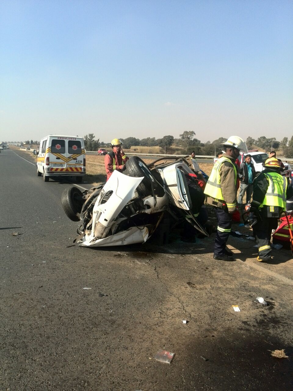 Vereenging R59 crash leaves woman critically injured