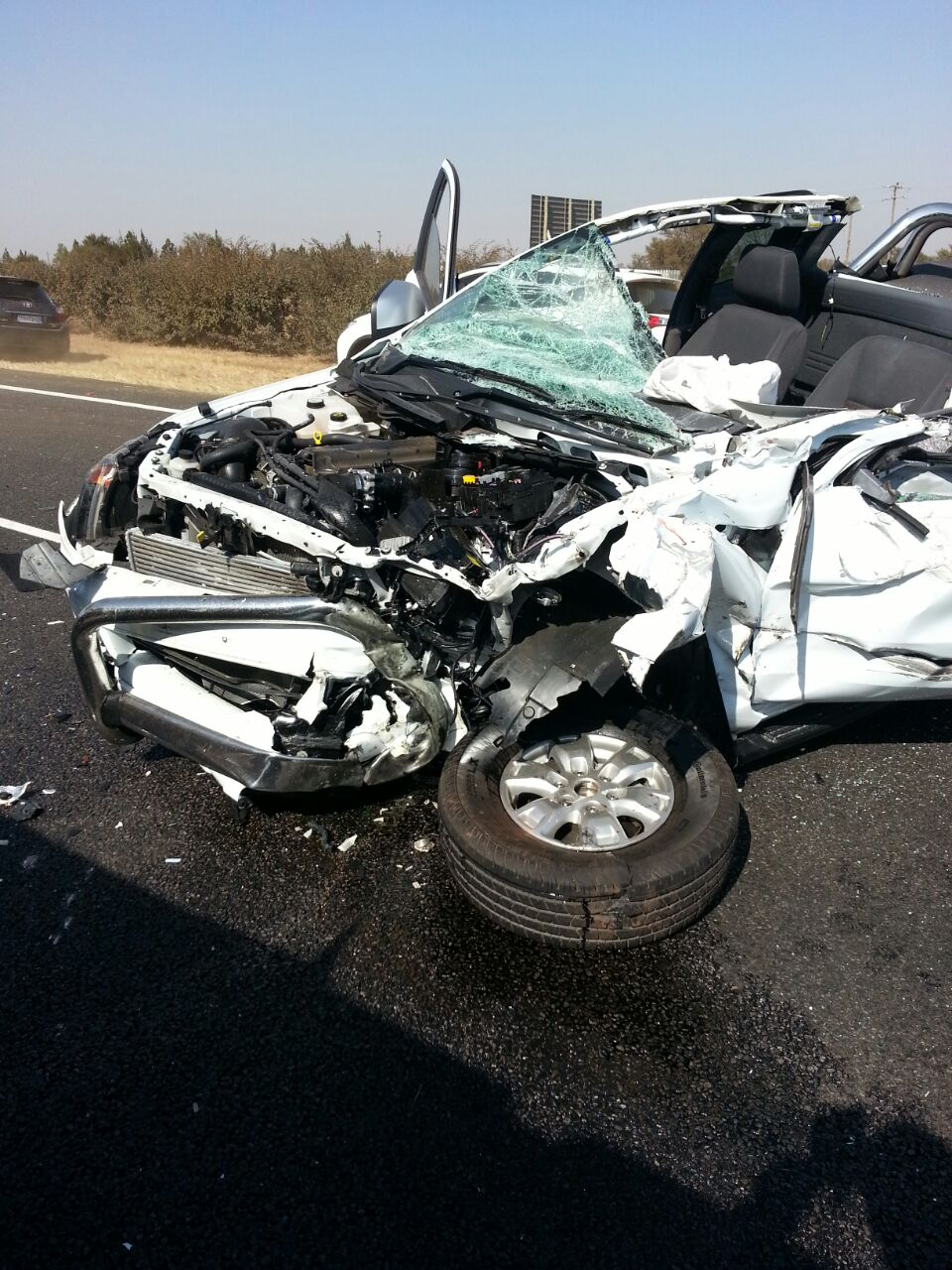 Pretoria rear-end crash leaves man injured