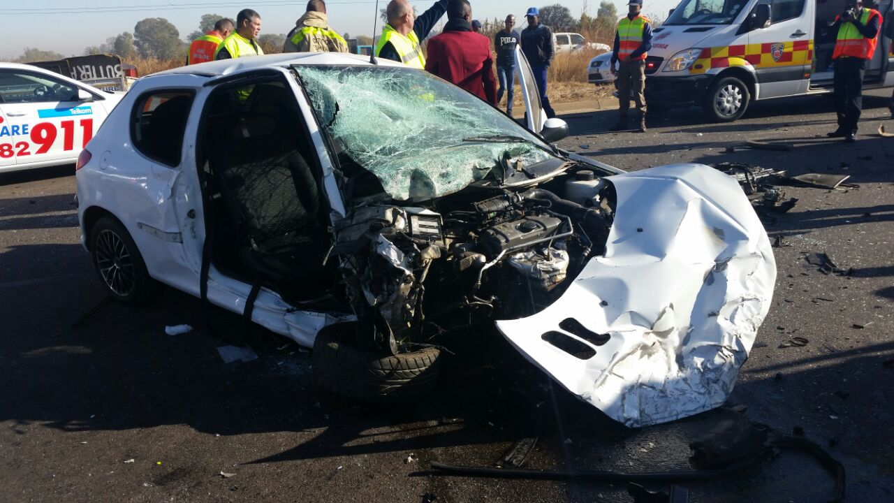 Hammanskraal head-on crash leaves two critical