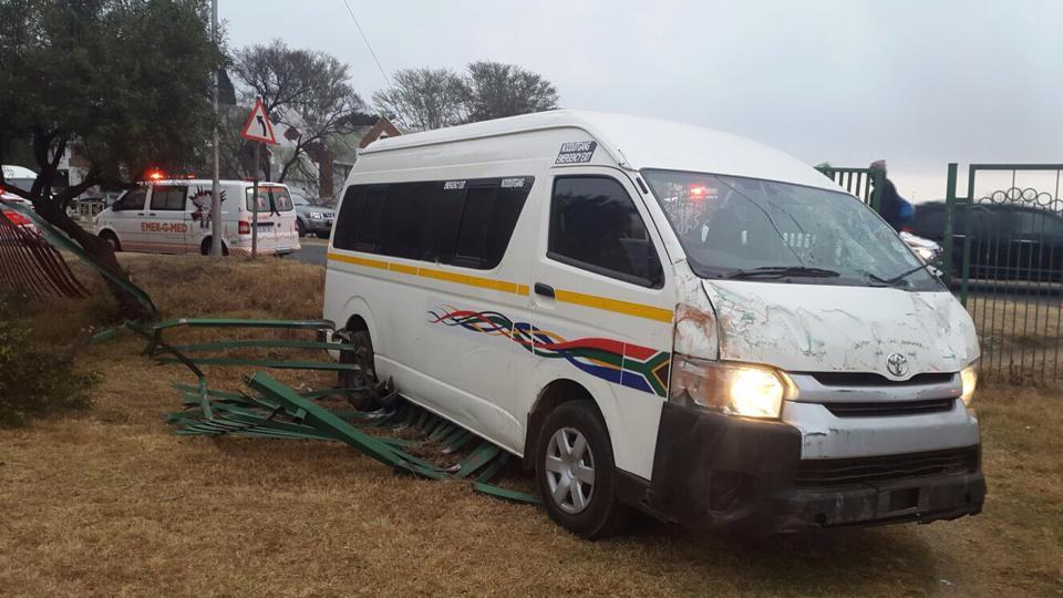 One passenger injured in taxi collision on Uranium Road in Fourways