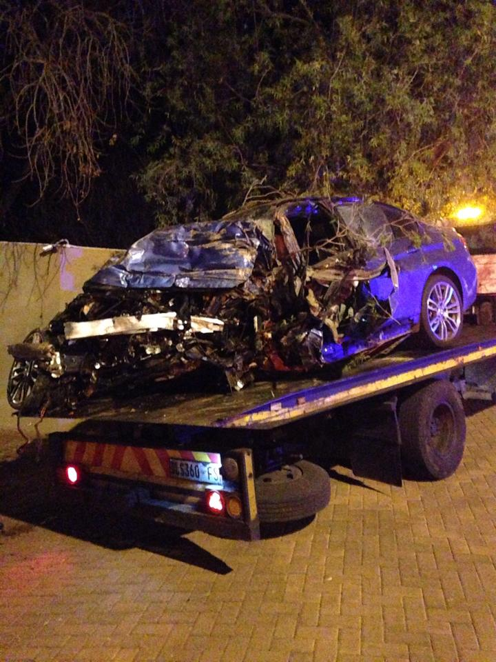 Two injured in collision on Corlette Drive under the M1 Bridge