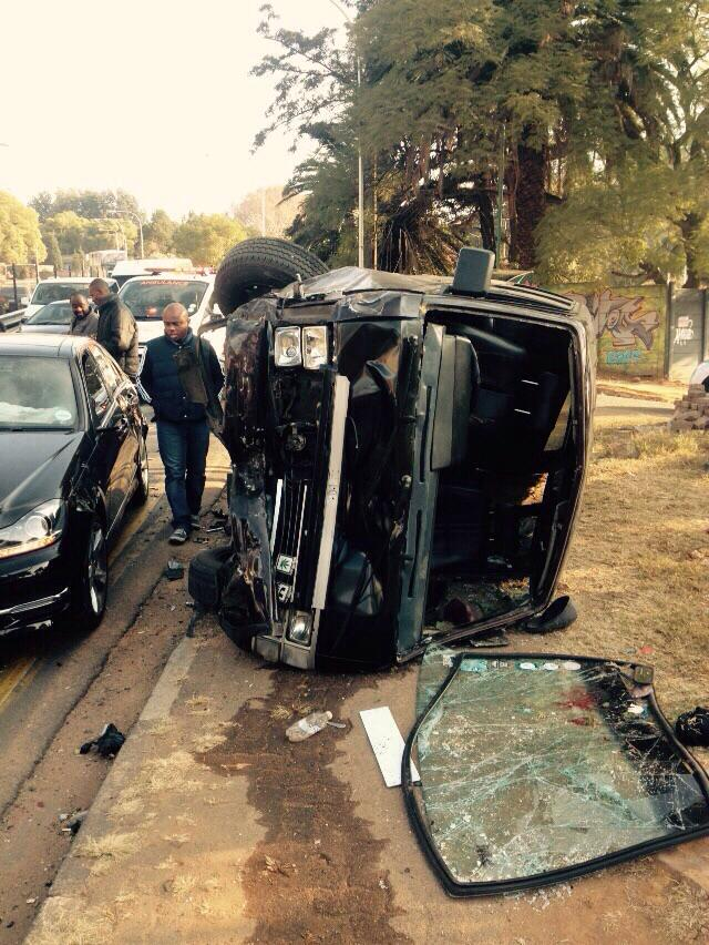 Taxi collides with 3 cars in Houghton