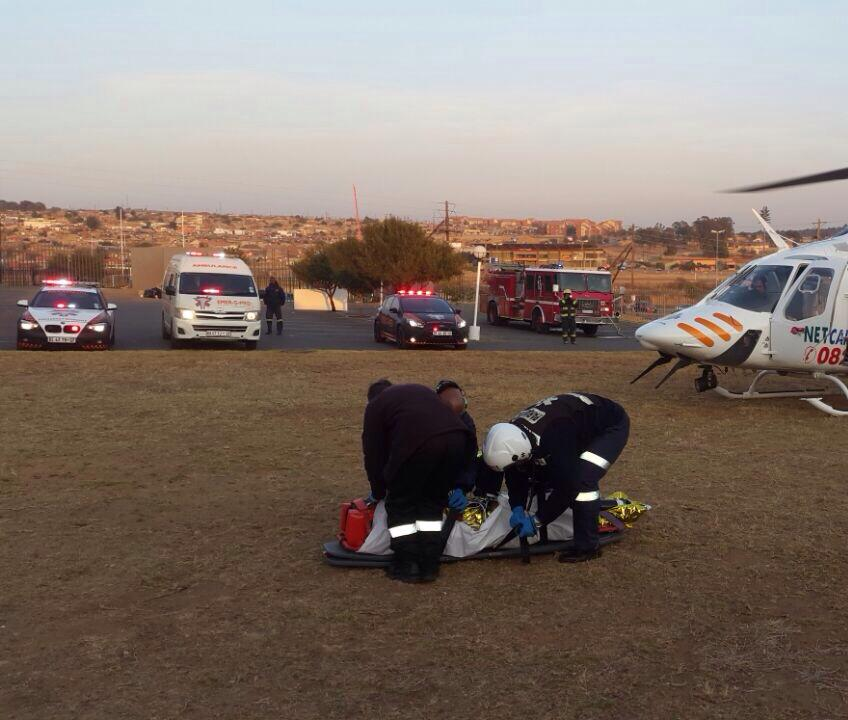 Crash victim evacuated after collision into wall in Cosmos City