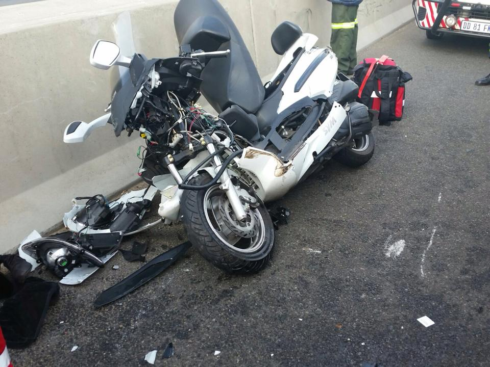 Woman airlifted to hospital after bike crash on the N1 North near William Nicol