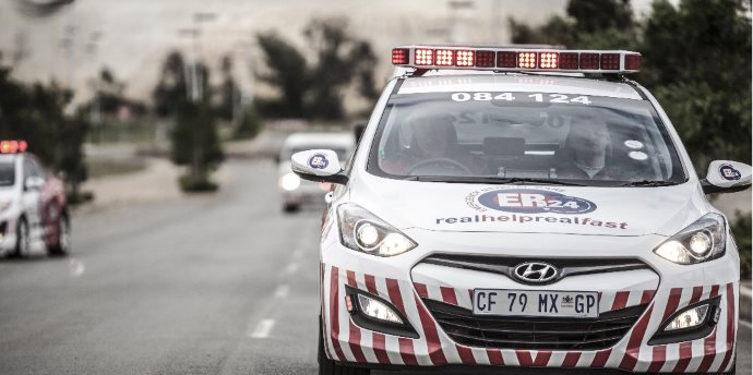 Biker seriously injured after falling off bike on De Waal Drive, Cape Town.