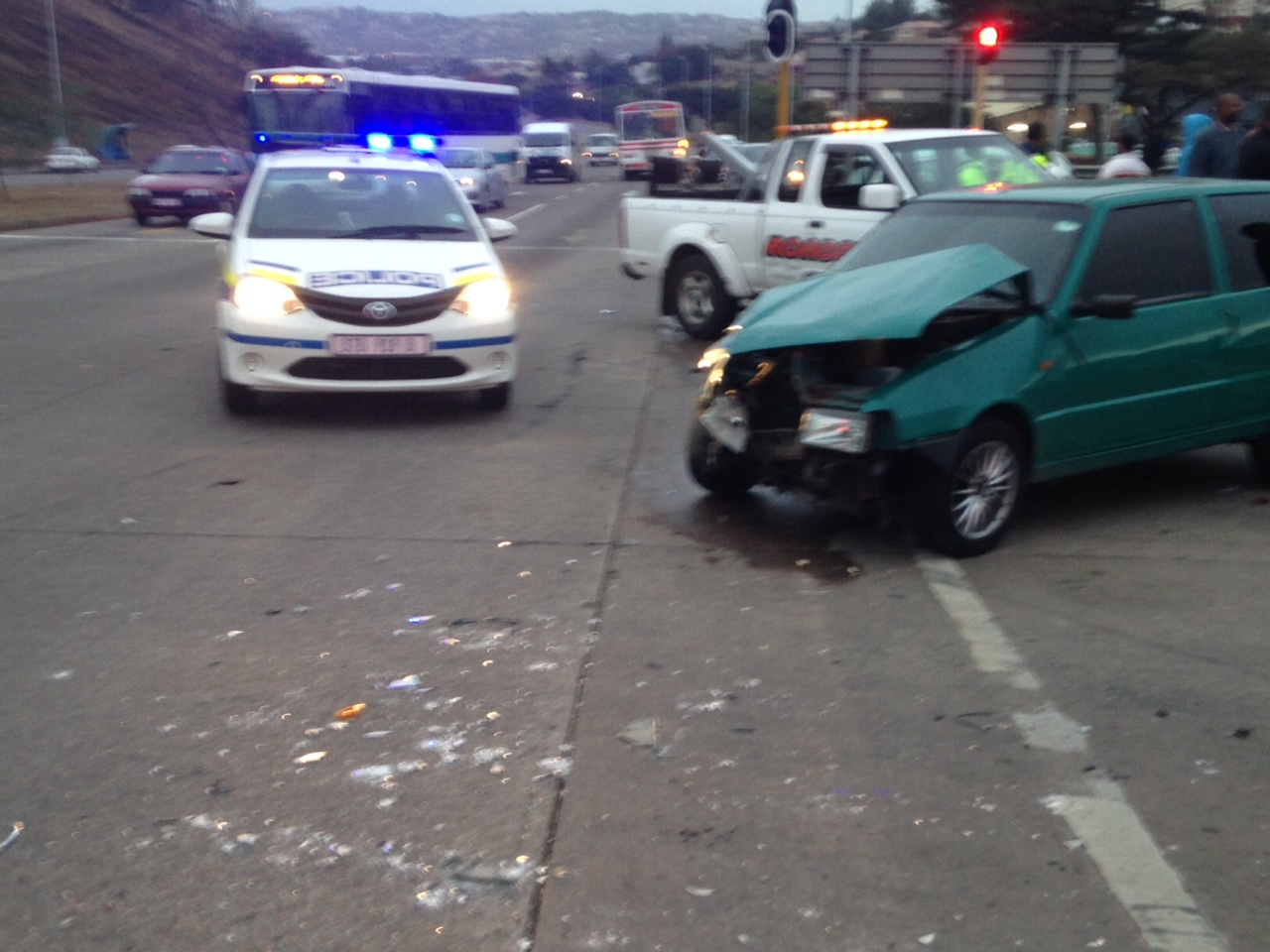 Eight injured in taxi smash on Inanda Road, Newlands