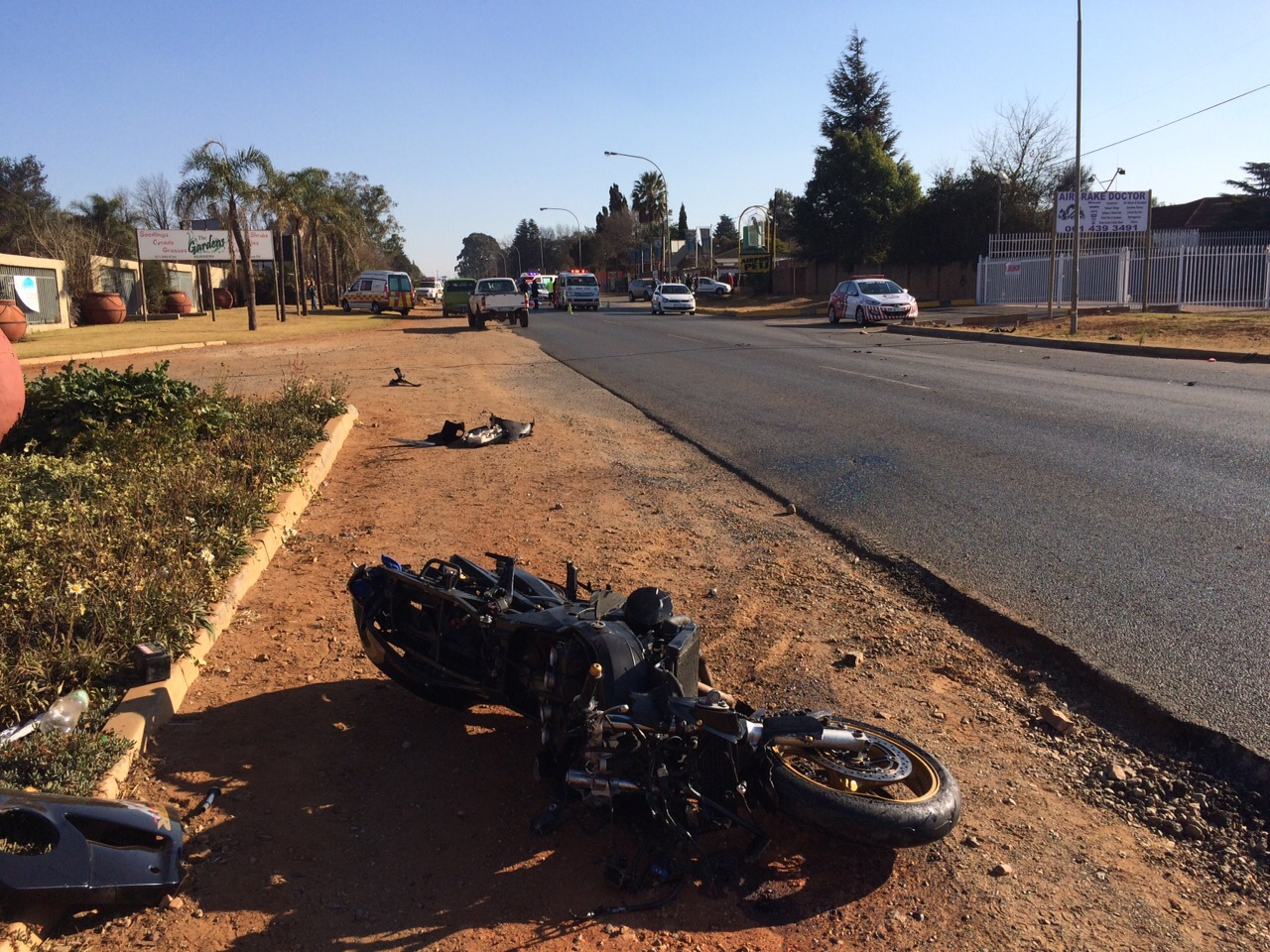 Man dies in motorcycle crash in Kempton Park