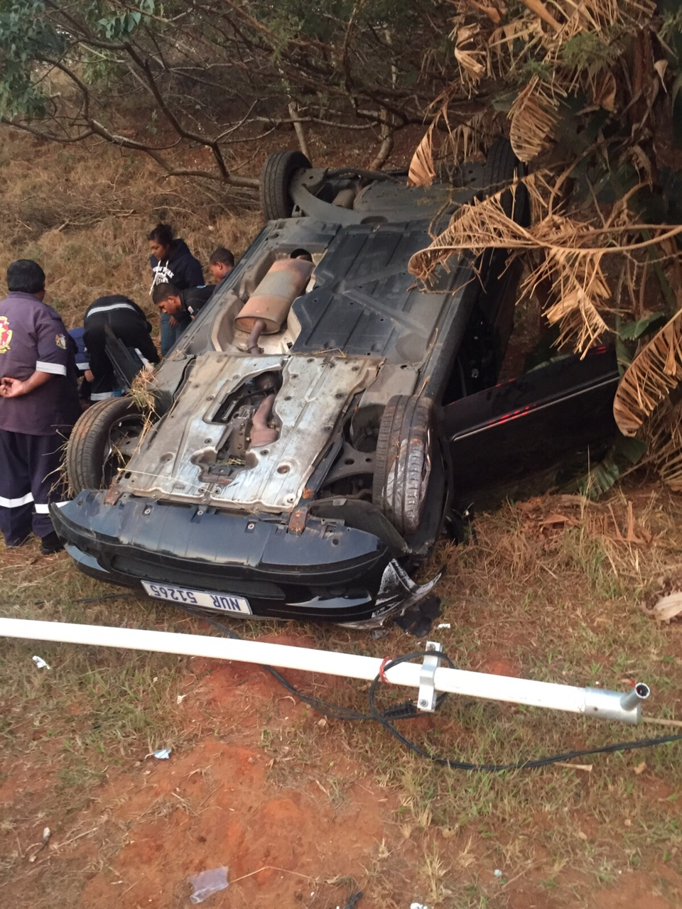 Rollover on N2 leaves one injured