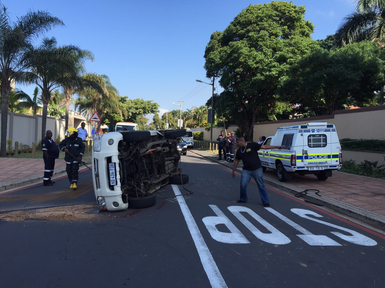 One injured in vehicle rollover on Chartwell Drive in Umhlanga Rocks