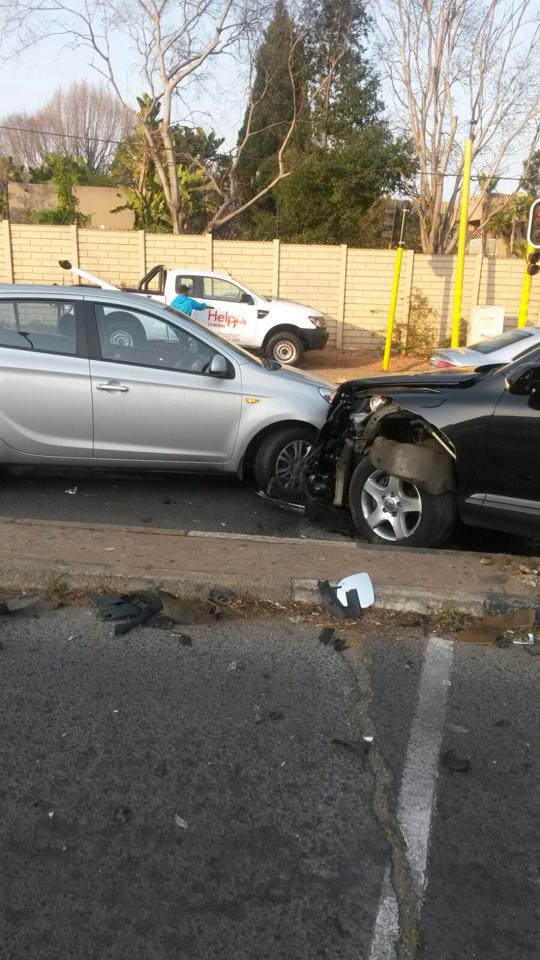 Two injured in collision at intersection in Craighall Park