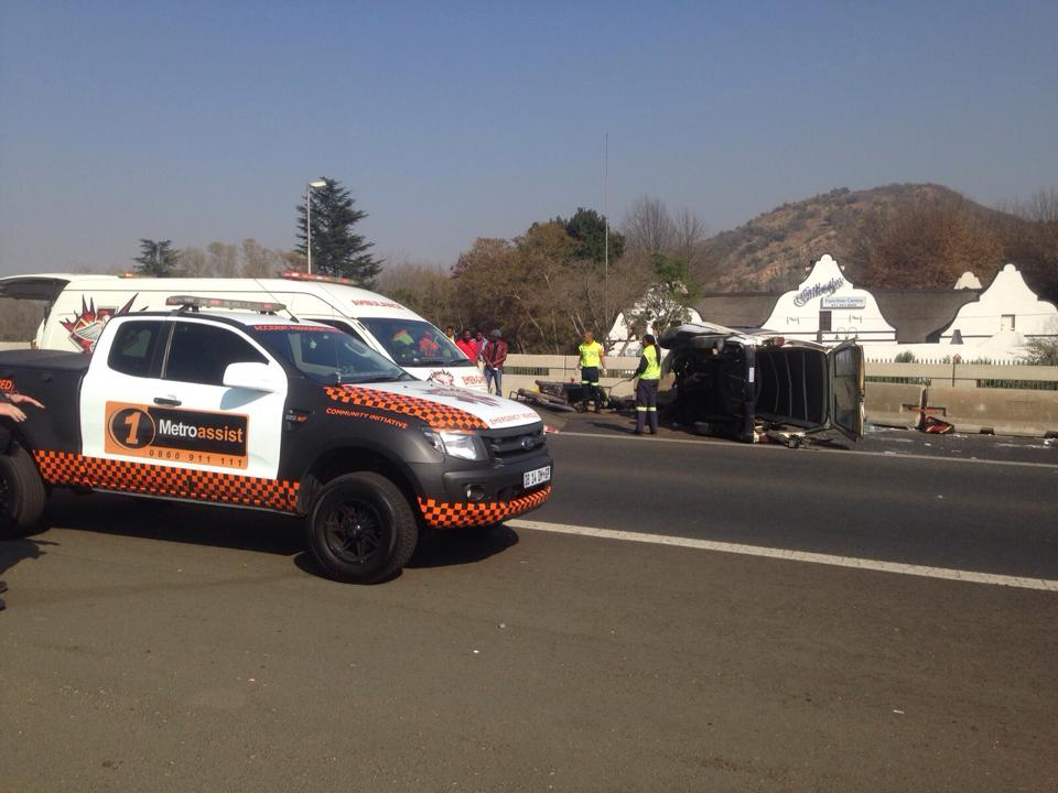 Several injured as taxi crashes into barrier on N3 North after Gilloolys