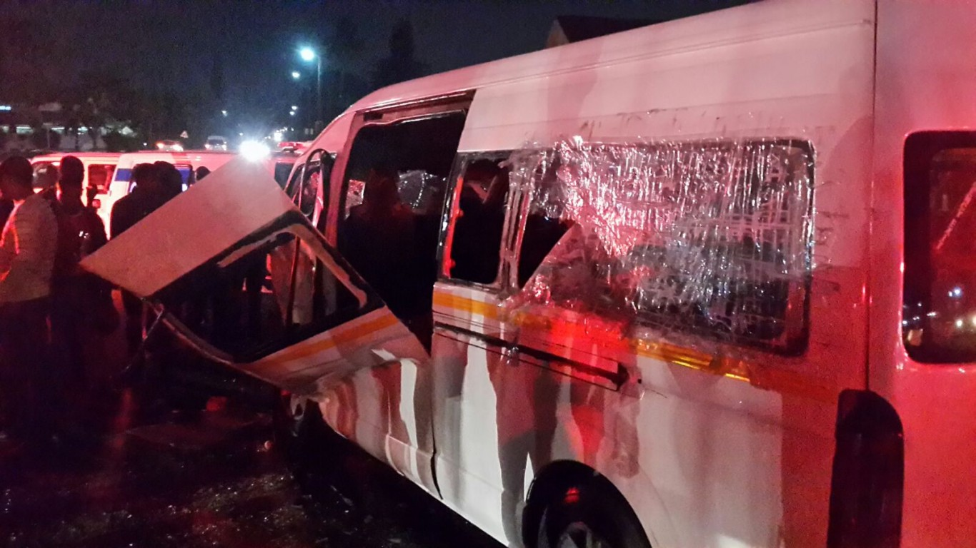 25 injured in two taxi collision