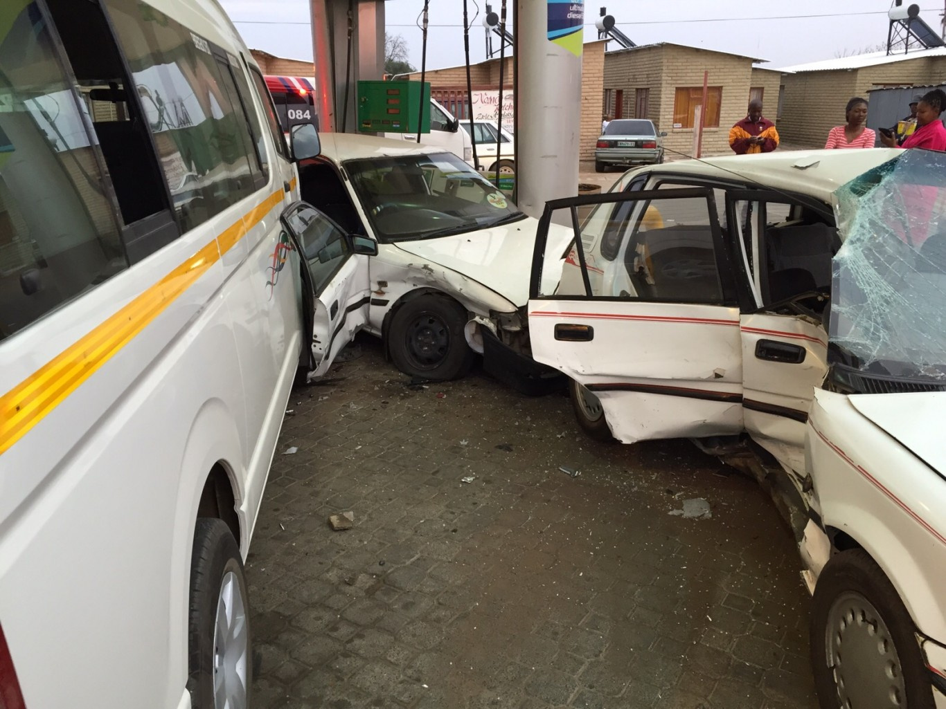 Collision at Bloemfontein petrol station leaves seven injured