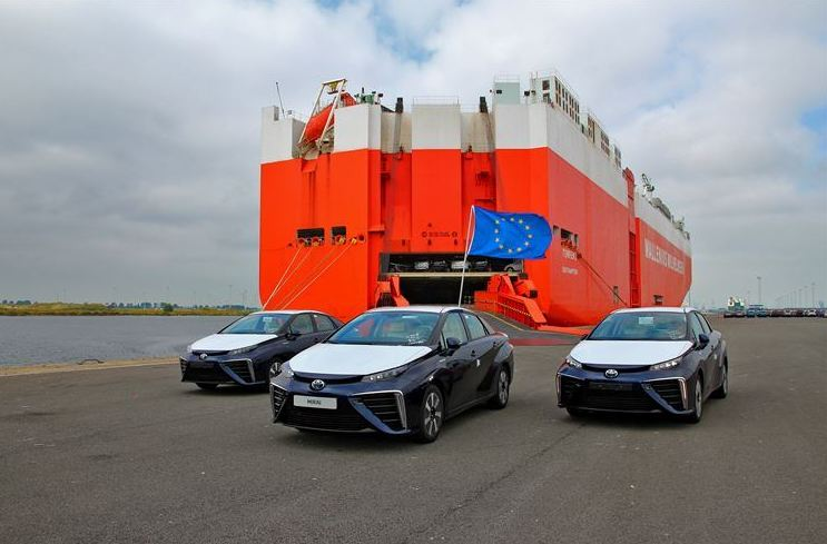 First shipment of Toyota Mirai fuel cell vehicles arrive in the UK