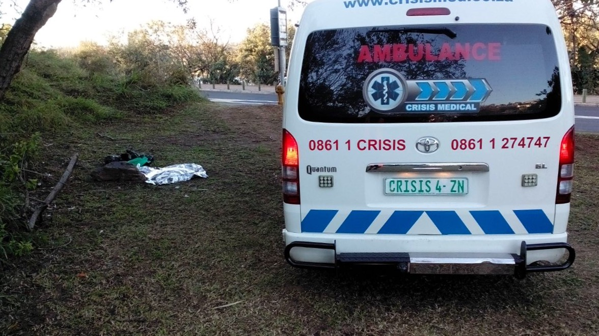 Baby discovered in a rubbish bag along Riverside Road
