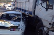 Multiple vehicle collision after driver of dustbin truck loses control