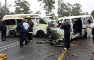 Five vehicles collide leaving 18 injured