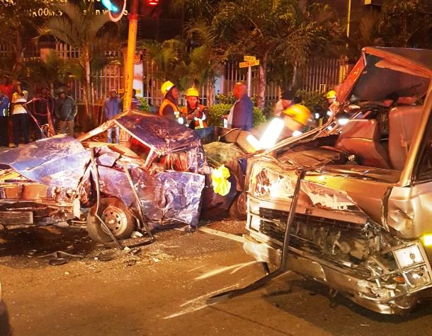 Five injured in Ficksburg bakkie collision
