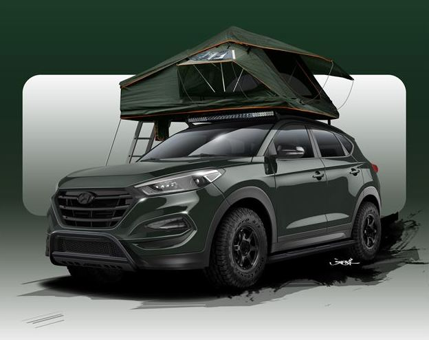Renowned designer creates a Hyundai Tucson Adventuremobile for SEMA Motor Show