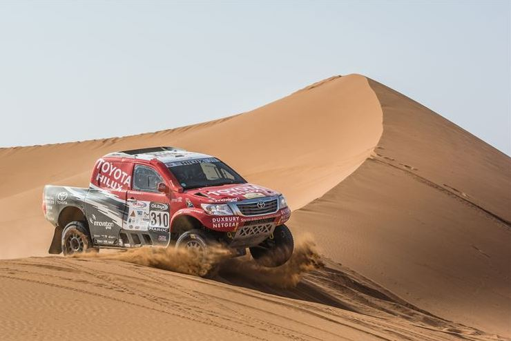 Solid 3rd stage for Toyota SA Dakar Team in Morocco Rally