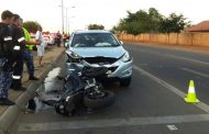 Biker injured in collision at intersection