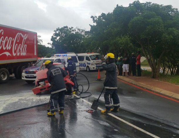 One injured in fiery Gateway Shopping Mall crash