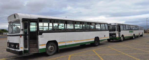 The licences of three buses were suspended