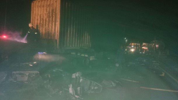 Three trucks crash near Tugela toll Plaza resulting in fire
