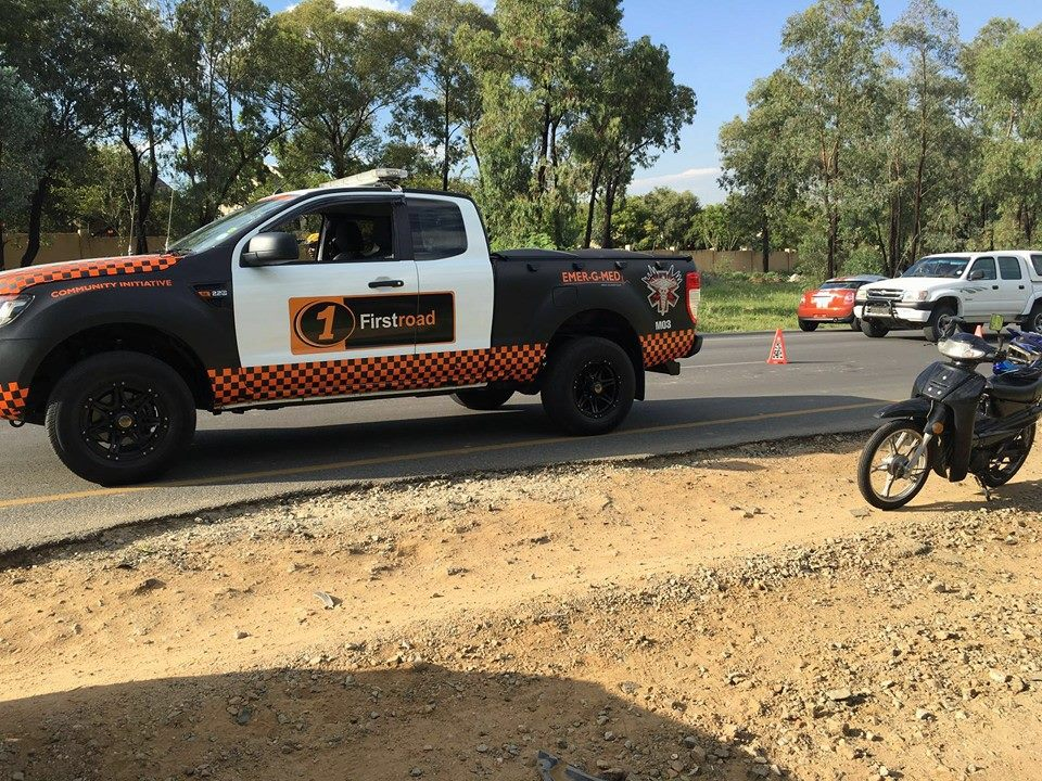 Biker injured in collision in Fourways
