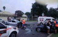 Three injured in crash on the corners of Peach and Die Vaal, in Brackenhurst