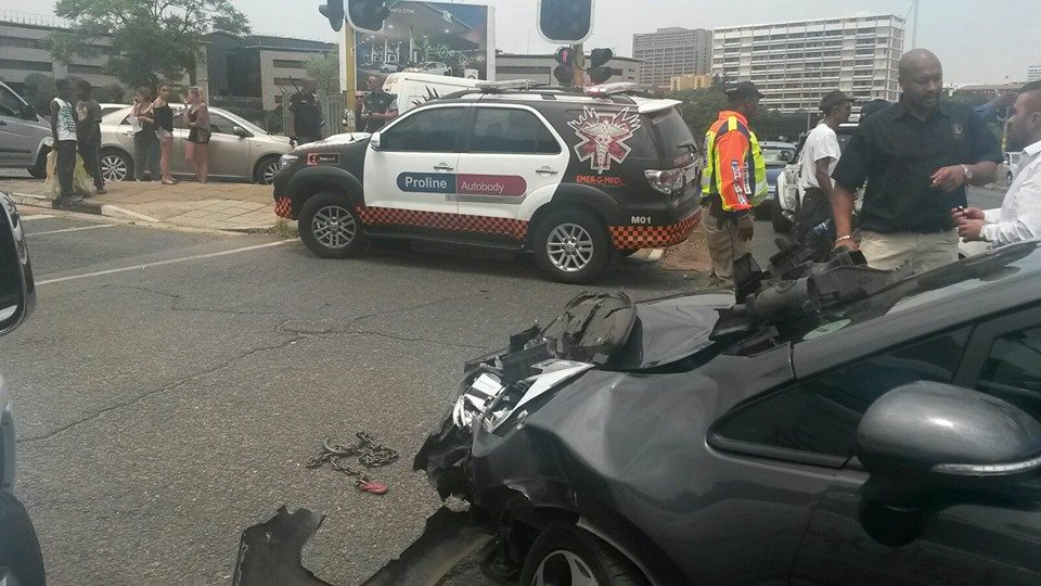 Three injured in crash on the corners of Peach and Die Vaal, in Brackenhurst