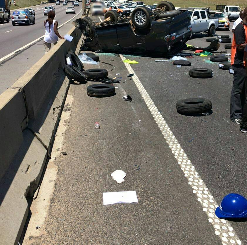 Several injured in vehicle rollovers in Midrand