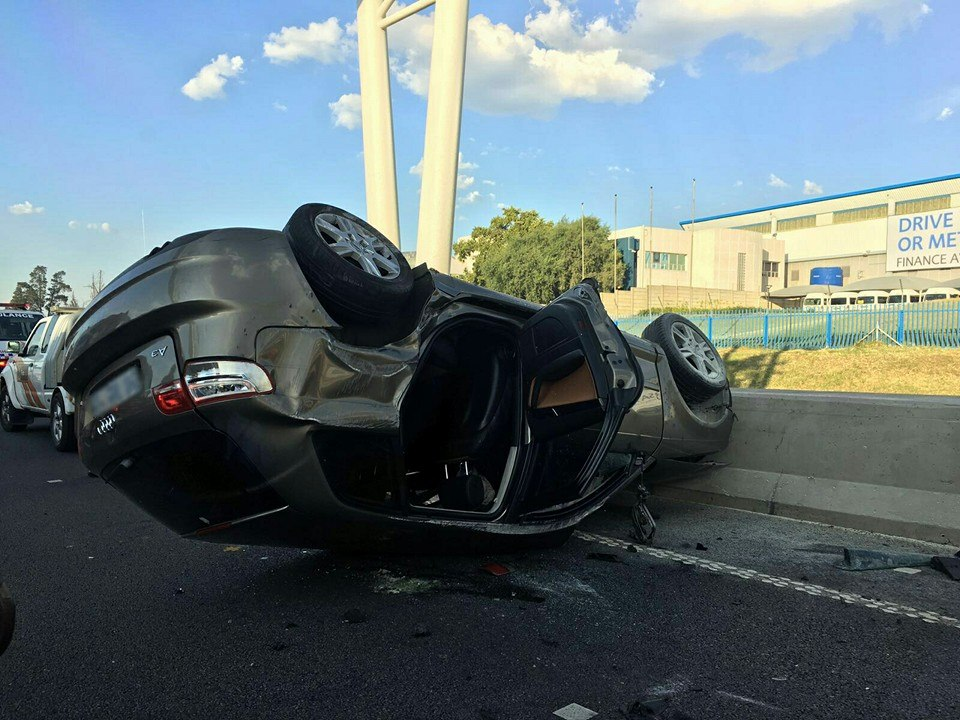 Critically injured man airlifted to hospital after rollover in Roodepoort
