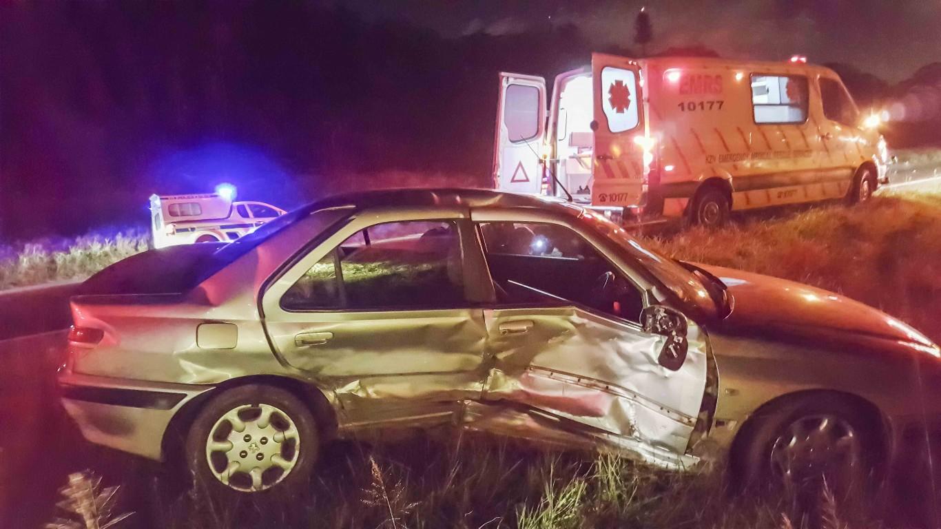 Amanzimtoti N2 south side impact crash after U-Turn