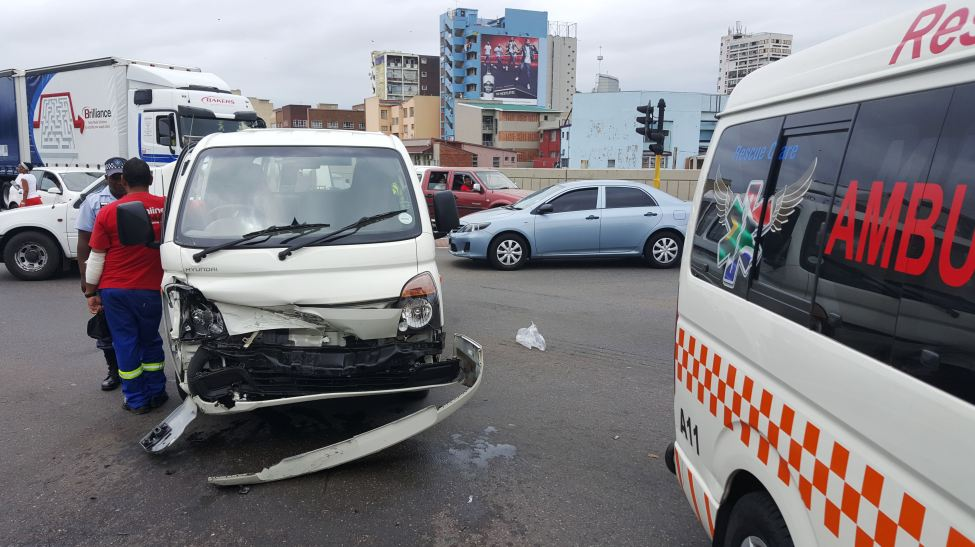 Collision at intersection of Leopald Street and Russel Street in Durban leaves 6 injured