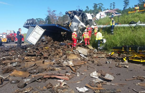 Truck overturns in Pinetown killing one person and injuring two others