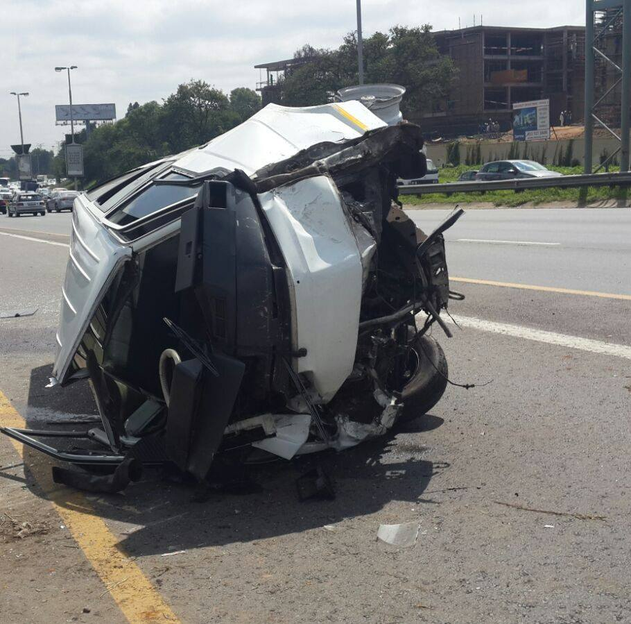 Man critically injured after car smashes into wall in Centurion