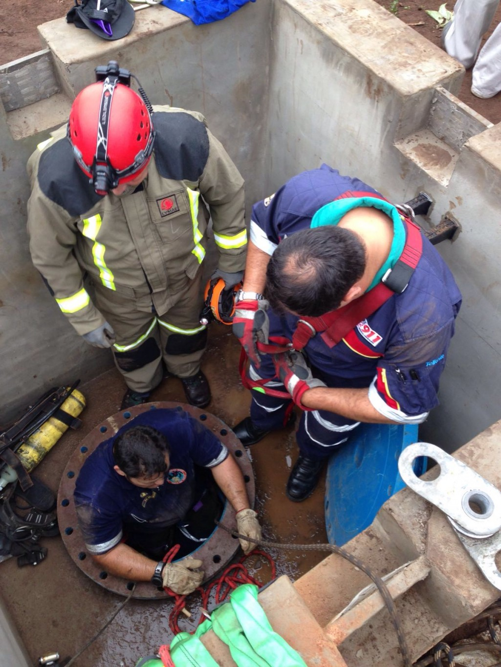 Photos from Eshowe industrial site rescue