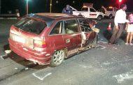 Marburg crash leaves five injured