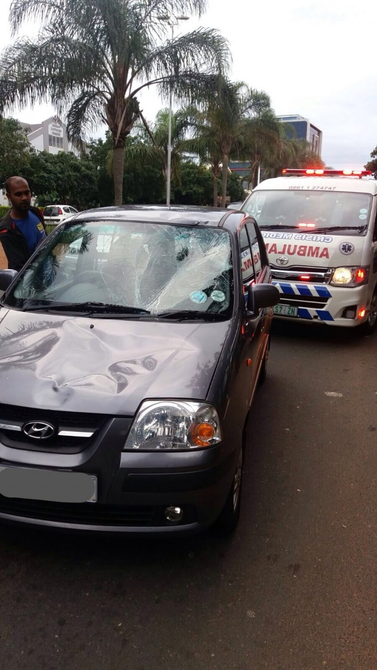 Pedestrian left with spinal cord injury, Umhlanga Rocks